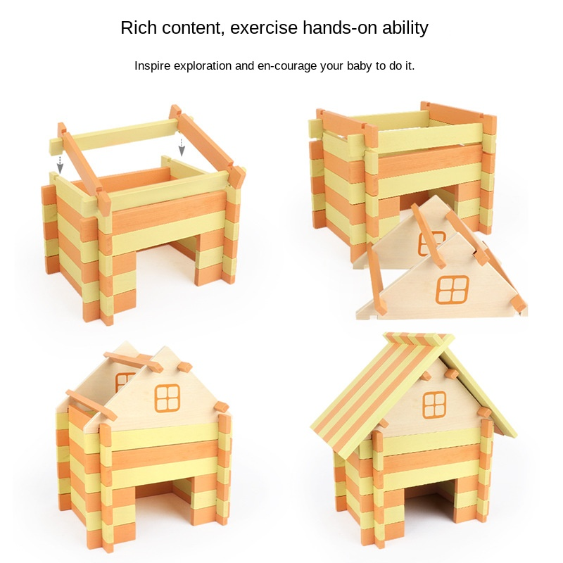 Купить с кэшбэком Children's wooden farm building blocks animal cognitive games exercise baby coordination observation thinking ability toy gift