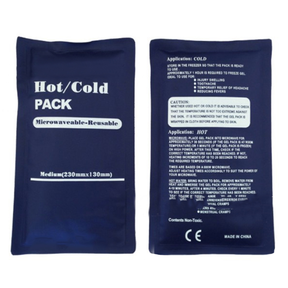 Hot/Cold Packs Water Re-usable Freeze Microwave Boiling Water Cool Heat Convenient Bag Insulated Ice Pack Soothing Heat Pads