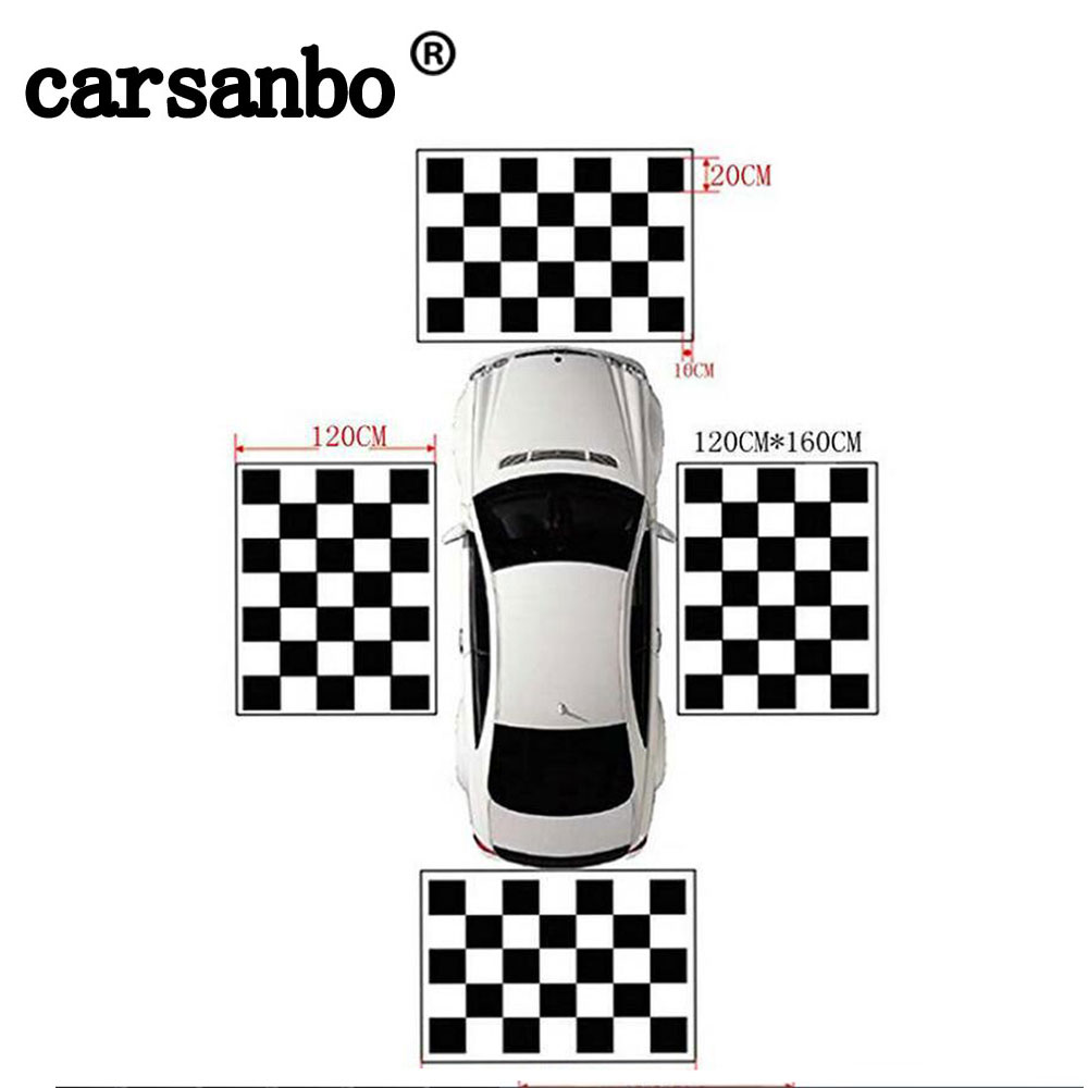 Carsanbo Fabrics Calibration Cloth Special For 360 Degree Camera Surround Bird View System Debugging Clothes 4pcs/set Nonwoven