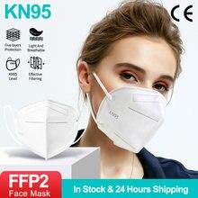 100 pçs ffp2 mascarillas fpp2 kn95 máscaras máscara facial ffp2mask 5 camadas mondkapje kn95 homólogo mascarillas ffp2reutilizável