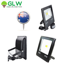 GLW LED Flood Light 50W with Sensor AU Plug Cold White/Warm White Waterproof IP 65 for Outdoor Garden Building Wall from