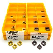 CCMT060204 VP15TF UE6020 US735 outil de tournage interne outils de tour en métal outil de coupe de haute qualité CCMT 060204 insertion de tournage
