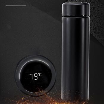 Inteligentny cyfrowy próżniowy kubek wody ekran dotykowy temperatura 304 ze stali nierdzewnej kreatywny prezent biznesowy tanie i dobre opinie CN (pochodzenie) STAINLESS STEEL Ekologiczne Wyświetlacz temperatury vacuum Termosy próżniowe termosy i Prosty kubek