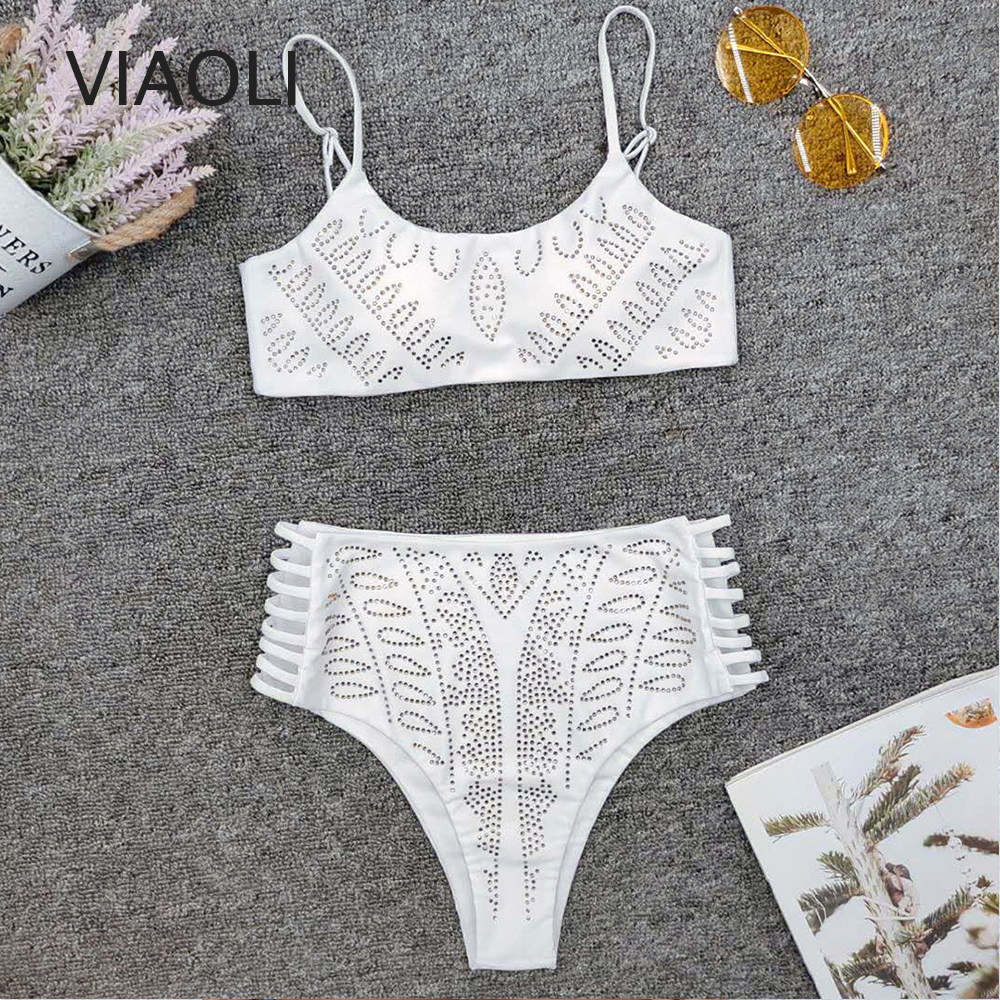 Viaoli Bikini New Swimwear Women Swimsuit Sexy Bikini Set Solid Bathing Suit Brazilian Beachwear Push Up Maillot De Bain Femme