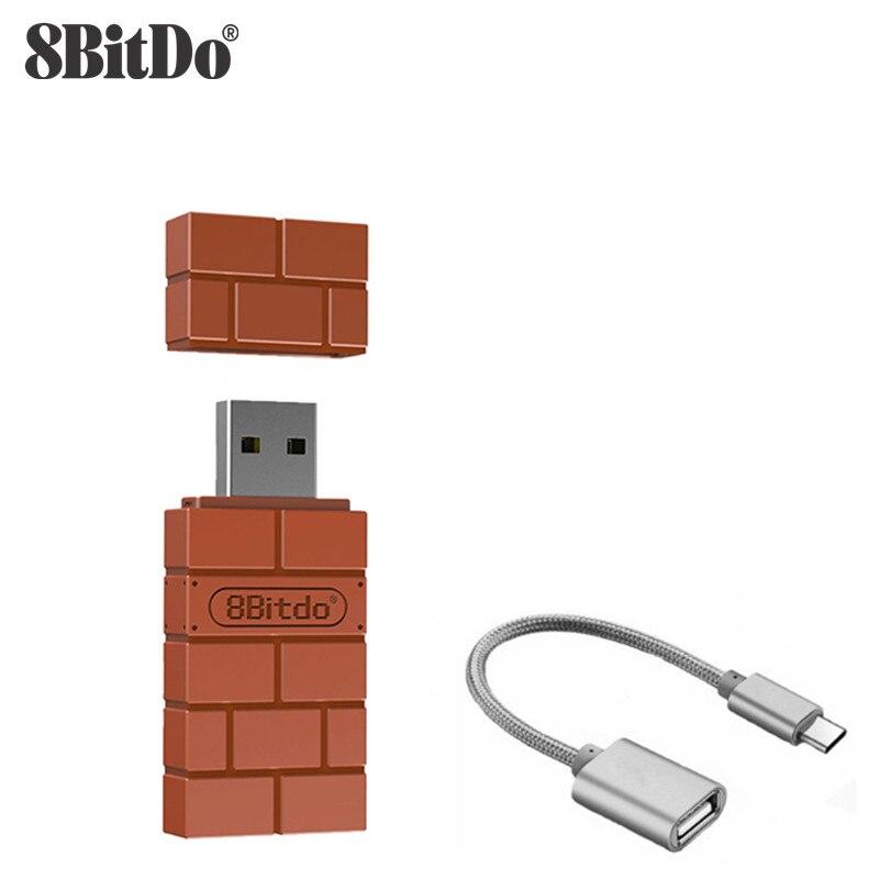 8 bitdo usb adaptador sem fio bluetooth para windows mac raspberry pi nintendo switch suporte ps3 xbox um controlador para interruptor
