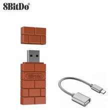 8BitDo USB Adattatore Bluetooth Senza Fili per Finestre Mac Raspberry Pi Nintendo Switch Supporto PS3 Xbox Un Controller per Interruttore