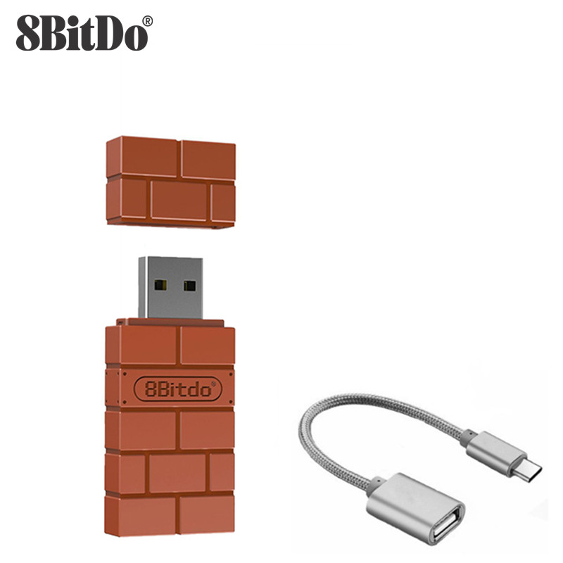 8BitDo USB Wireless Bluetooth Adapter For Windows Mac Raspberry Pi Nintendo Switch Support PS3 Xbox One Controller For Switch