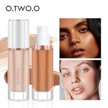 O.TWO.O fond de teint noir mat cosmétiques pour visage correcteur complet couvrant fond de teint liquide humide naturel blanchir Base de maquillage
