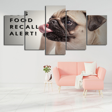 Wall Art Canvas Painting Frame HD Print Modern Pugs Poster Living Room Home Decor 5 Pieces Cute Pet Dog Modular Pictures