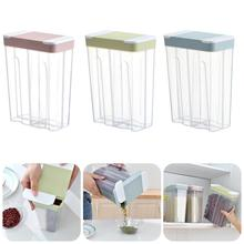 Plastic Storage Box Cereal Dry Food Storage Container Transparent Leakproof Storage Bottle Kitchen Container kitchen stackable sealpot plastic containers box with buckle storage box for food cereal container fridge organizer storage