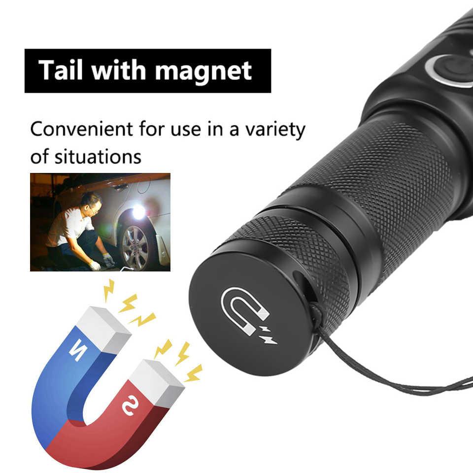 Xhp50 светодиодный фонарик usb зарядка растягивающийся зум ударопрочный 18650 перезаряжаемый фонарик мощный магнитный фонарь Z90 + 1474