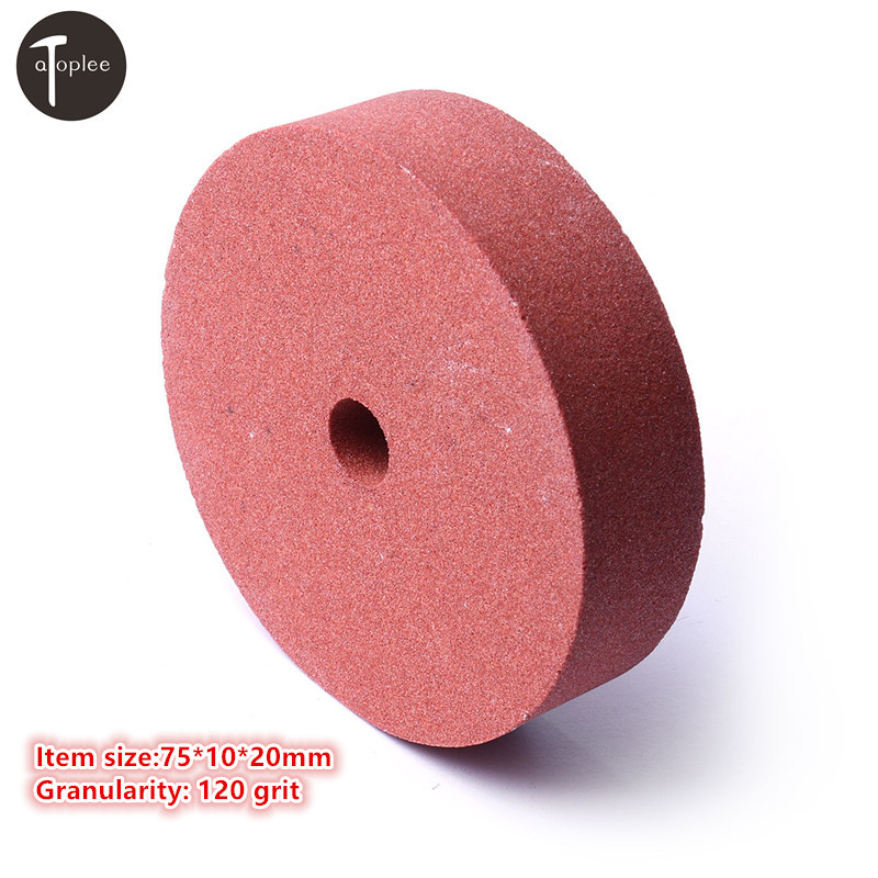 Hot 3'' 120 Grit Grinding Wheel Polishing Pad Abrasive Disc For Bench Grinders Rotary Tools 75*10*20mm