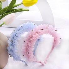 Корейский кружевной Кристалл цветок корона головная повязка