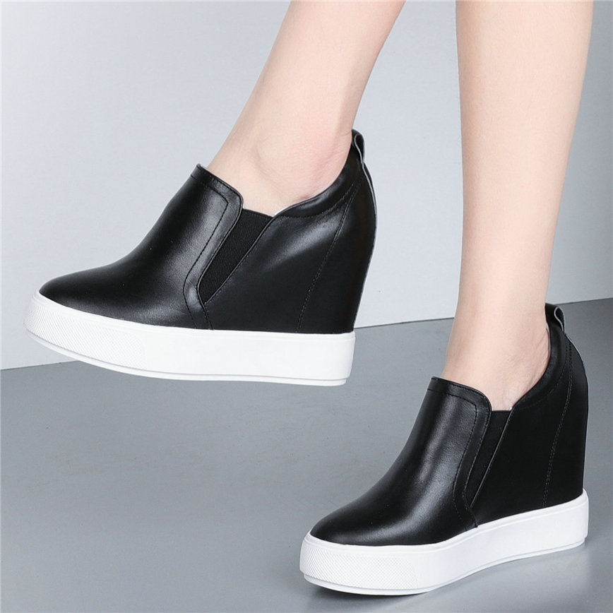 Female Sneakers Women Genuine Leather