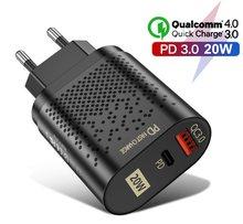 Pd 20w qc4.0 carregamento rápido usb c carregador para iphone 12 mini pro max 12 11 xs xr x 8 plus pd carregador para ipad ar 4 2020 ipad pro
