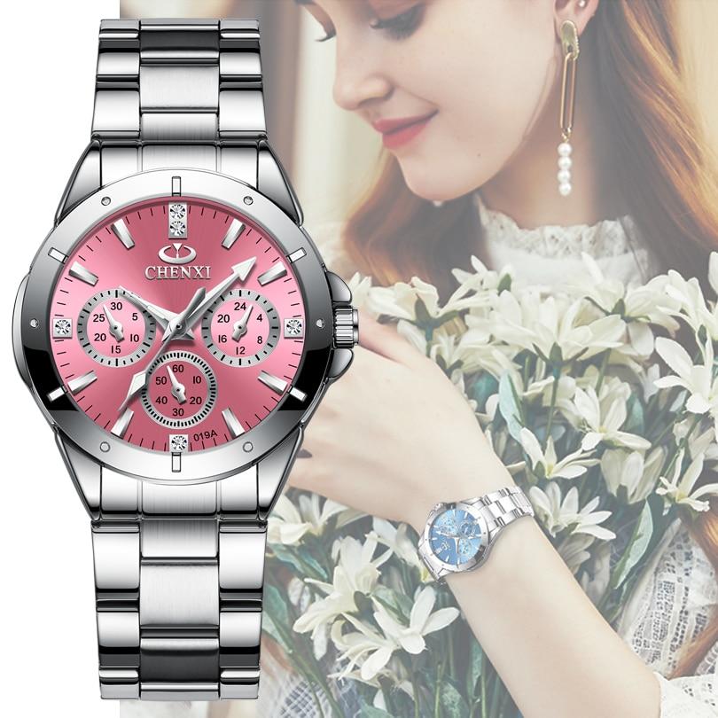 Women Fashion Casual Watches Women's Quartz Wristwatches Ladies Luxury Rhinestone Dial Clock Waterproof Reloj Mujer Dropshipping