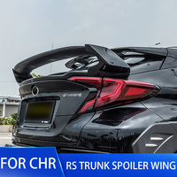 ABS Plastic Carbon Fiber Color Rear Spoiler Wing For Toyota CHR C HR Trunk Boot Tail Spoilers For CHR 2016 2017 2018 2019 20