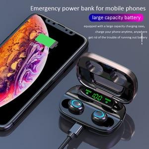 Image 4 - Беспроводные Bluetooth наушники TWS наушники Bluetooth 5,0 наушники с шумоподавлением Handsfree светодиодный цифровой дисплей наушники