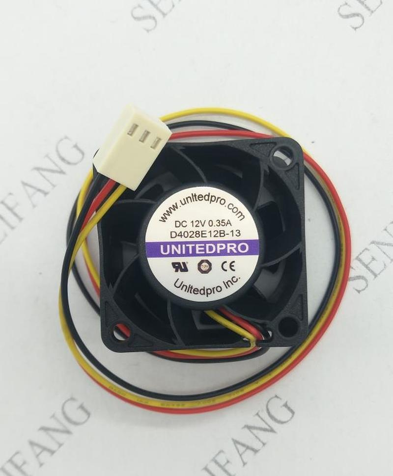 Free Shipping D4028E12B-13 DC 12V 0.35A 3-wier 40x40x28mm Server Cooler Fan