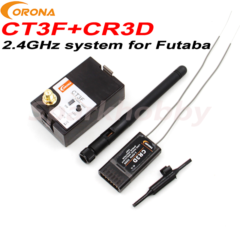 1 Set Corona Futaba 2.4Ghz Transmitting Module CT3F And DSSS CR3D 3CH Receiver CT3F+CR3D Upgrade Module&receiver Kit For Futaba