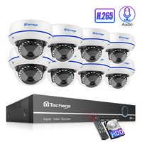 Techage H.265 8CH 1080P POE NVR Kit Sicherheit Kamera System 2.0MP HD Dome CCTV POE Kamera IR Nacht Vision video Überwachung Set