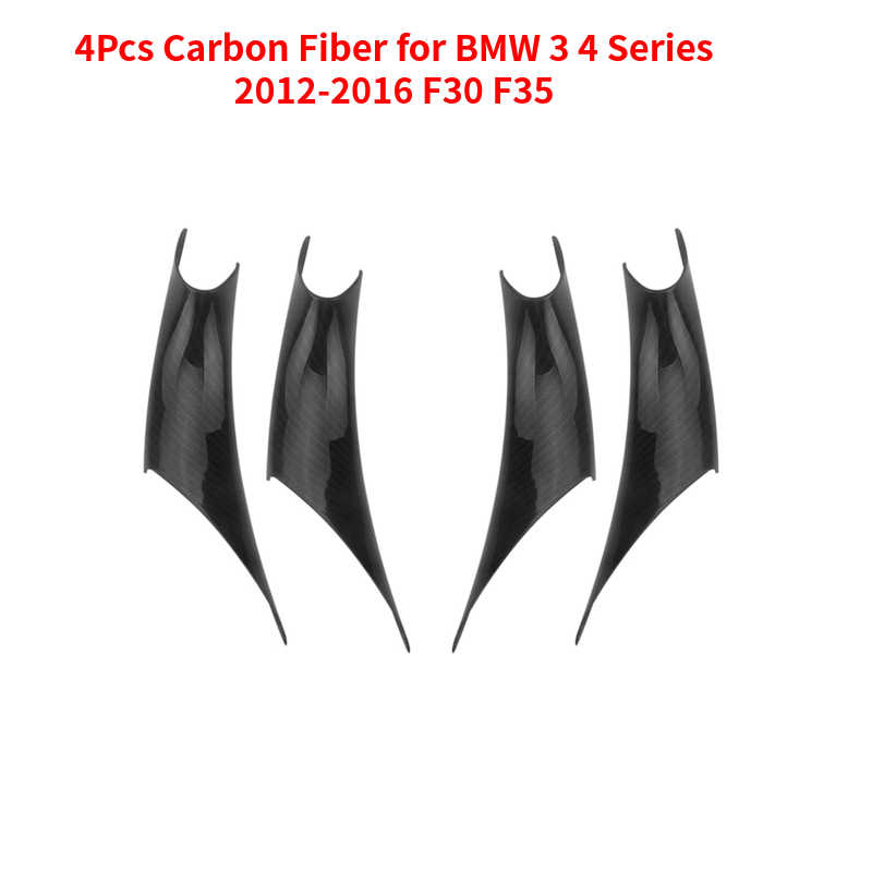 Auto-interieur Deur Panel Grab Handle Covers Carbon Fiber Armsteun Beschermende Trim Auto Styling Voor Bmw 3 4 Serie 2012-2016 F30 F35