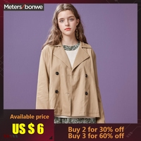 Metersbonwe women's jackets fall 2018 new classic double breasted jacket