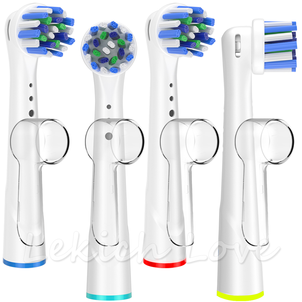 4 Pcs Toothbrush Heads For Oral B Toothbrush With 4 Pcs Toothbrush Head Covers Fit For Oral B Cross Action Toothbrush Heads