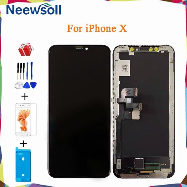 Amoled Oled Für iPhone X LCD Display Screen Für iPhone X Touchscreen Digitizer Montage Ersatz