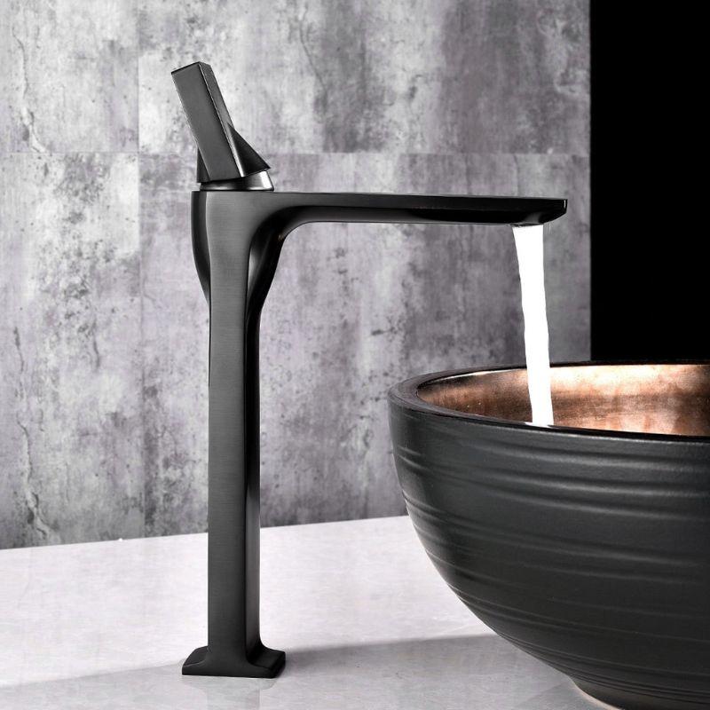 Robinet de lavabo robinet rétro noir poignée unique trou pont monté lavage chaud froid mélangeur salle de bains cuisine évier