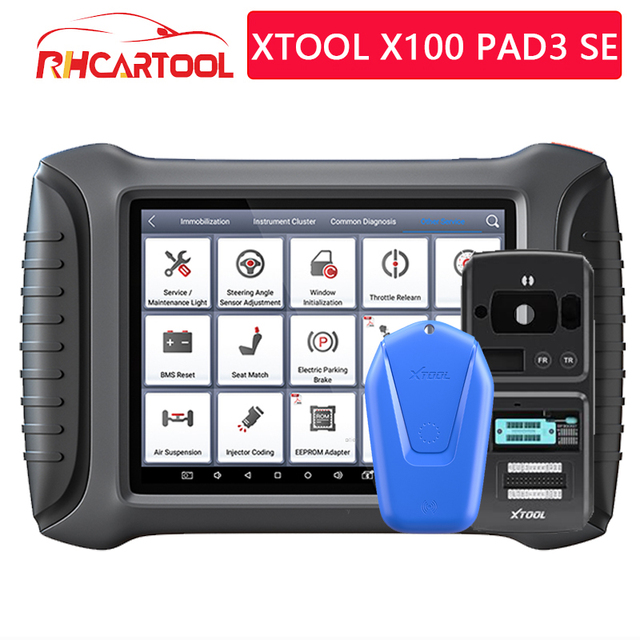 XTOOL X100 PAD3 SE With KS 1/KC501 Infrared Key Full Systems OBD2 Key programmer Diagnosis Scanner Tools  For BENZ Free Update