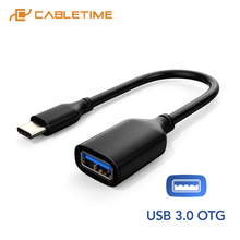 Female-Adapter Mate Usb-C Macbook Air CABLETIME OTG Type-C To for Xiaomi C329 Huawei