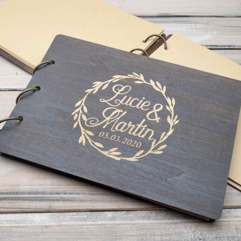 Wood Wedding Guest Book Customised Guest Book Custom Wedding Guest Book Wedding Calligraphy Wood Guest Book Rustic Wedding Guest Book