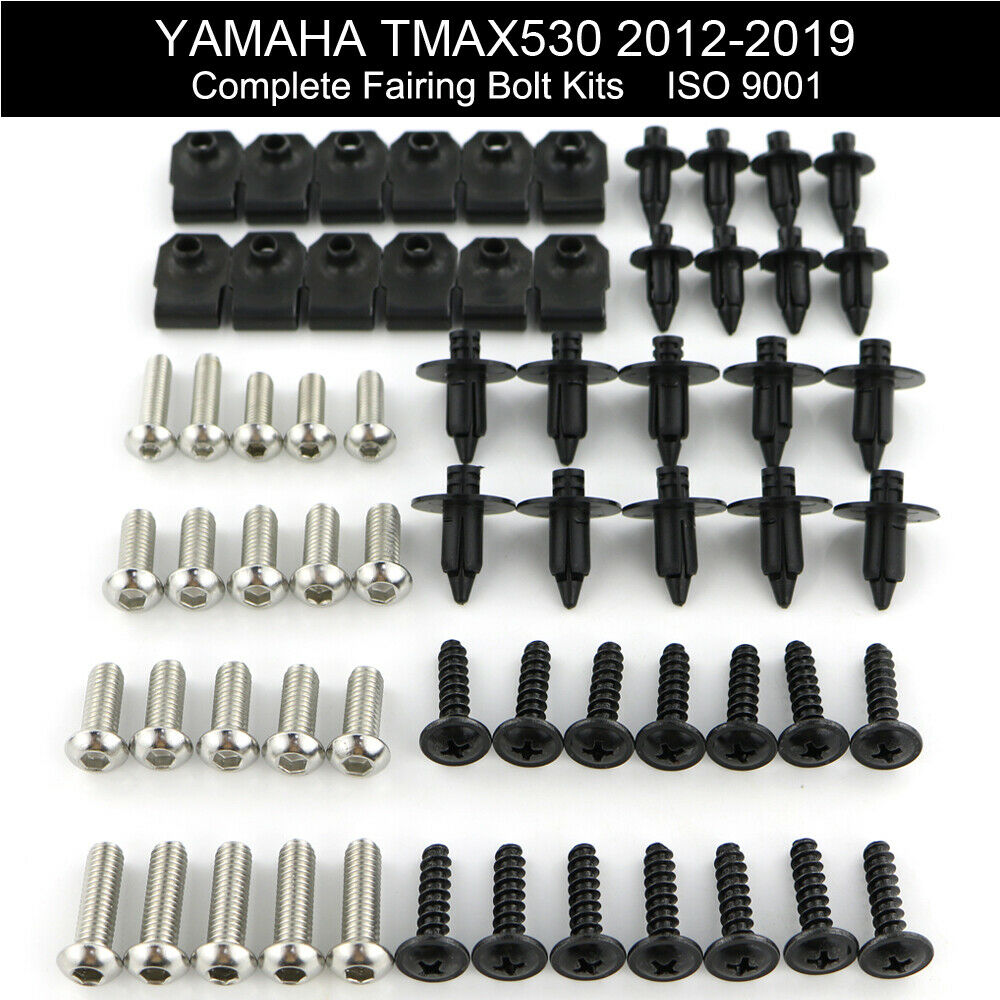 For Yamaha TMAX 530 TMAX530 2012-2019 Complete Full Fairing Bolts Kit Bodywork Screws Steel Clips Speed Nuts Covering Bolts
