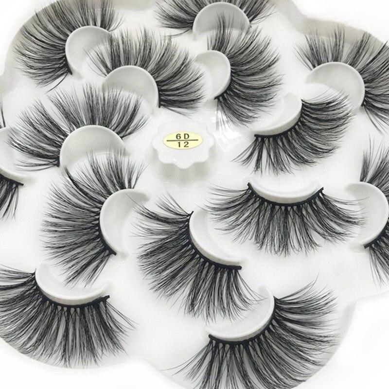 ICQUEEN 7 pairs 25mm natural 3D false eyelashes fake lashes makeup kit Mink Lashes extension mink eyelashes maquiagem