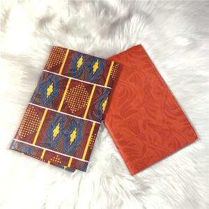 Image 3 - 2 + 2 מטרים Chitenge אנקרה הדפסת בד פוליאסטר גאנה קנט שעווה אפריקאי Kitenge הדפסת שעוות בד AW30