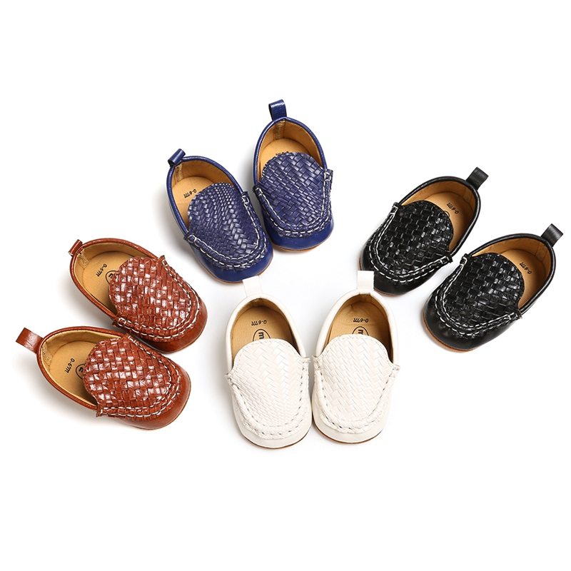 Autumn Baby Boy Crib Shoes Autumn Baby Boys Breathable Anti-Slip Shoes Sneakers Toddler Soft Soled PU Walking Shoes Drop