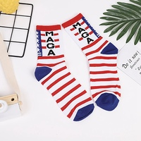 Casual Socks Printed Cotton Polyester Spandex Hosiery Footwear Accessories For American President Election