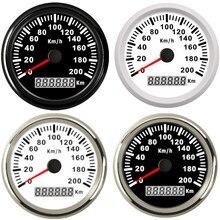 Evrensel 85mm GPS hız göstergesi 200km/saat 120km/saat araba hız göstergesi kamyon tekne arka işık 12V 24V BMW için e39