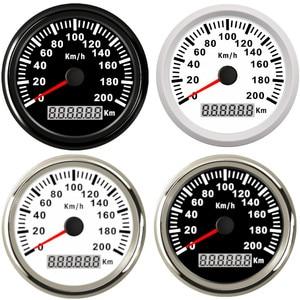 Image 1 - Universal 85mm GPS Speedometer 200km/h 120km/h Car Speedometer Gauge for Truck Marine Boat With Backlight 12V 24V for BMW e39