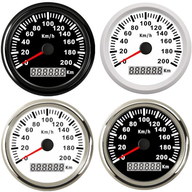 Universal 85mm GPS Speedometer 200km/h 120km/h Car Speedometer Gauge for Truck Marine Boat With Backlight 12V 24V for BMW e39