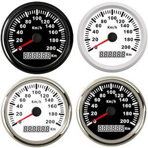 Image 1 - Uniwersalny 85mm prędkościomierz GPS 200 km/h 120 km/h prędkościomierz do samochodu wskaźnik dla ciężarówki łódź morska z podświetleniem 12V 24V dla BMW e39