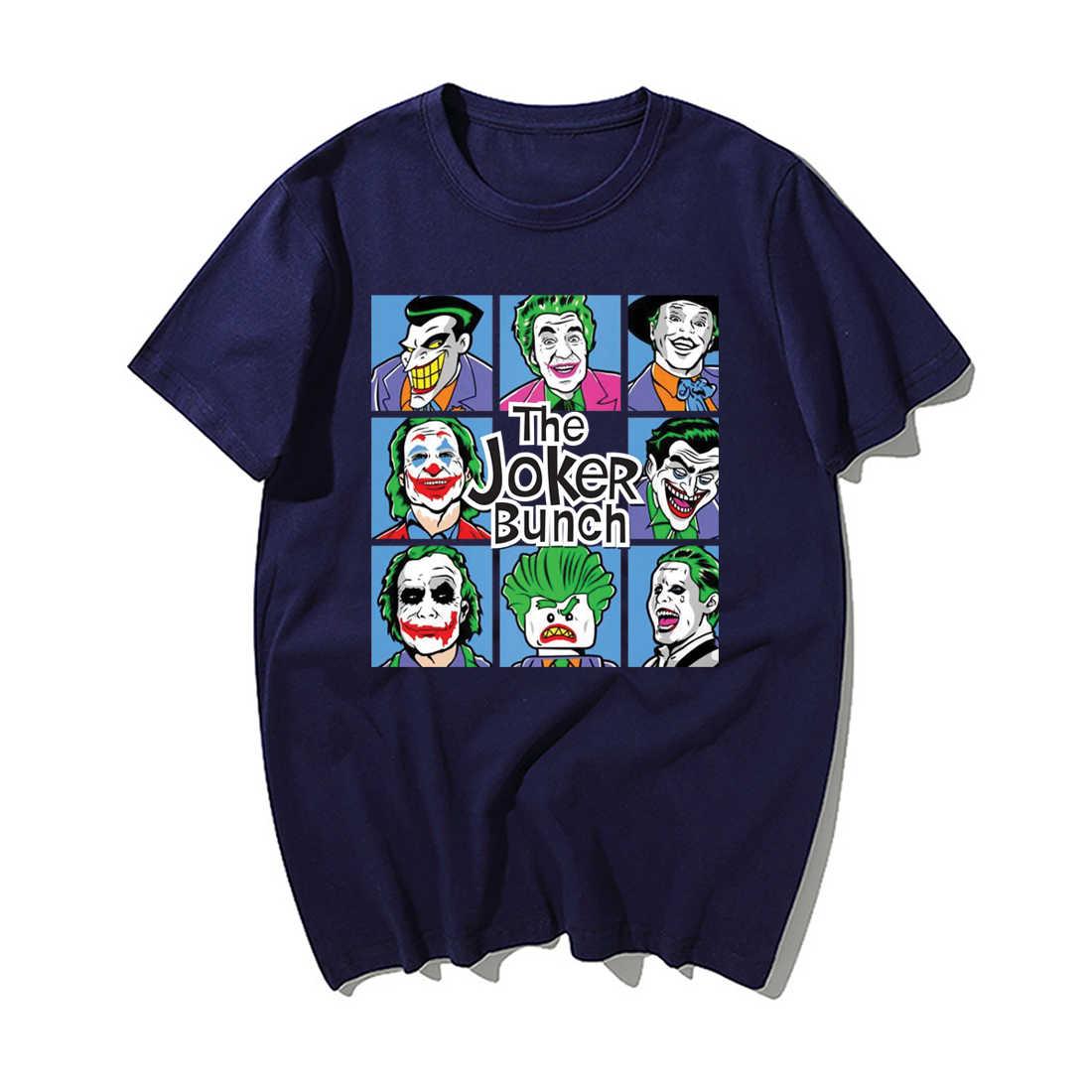 Забавные Джокеры, Футболка мужская, модная, Джокер, с принтом, летняя, хип-хоп, топы, уличная, повседневная, хлопковая, с коротким рукавом, футболки