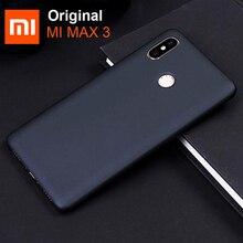 Оригинальный чехол для Xiaomi Mi Max 3 Max3, задняя крышка, противоударный жесткий защитный чехол для телефона из поликарбоната, Черные Оригинальные чехлы для xiaomi mi max 3