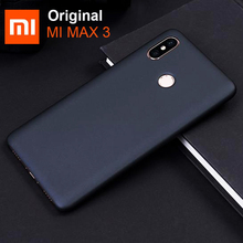 Xiaomi funda protectora para Xiaomi Mi Max 3 Max3, carcasa trasera antigolpes para PC, color negro
