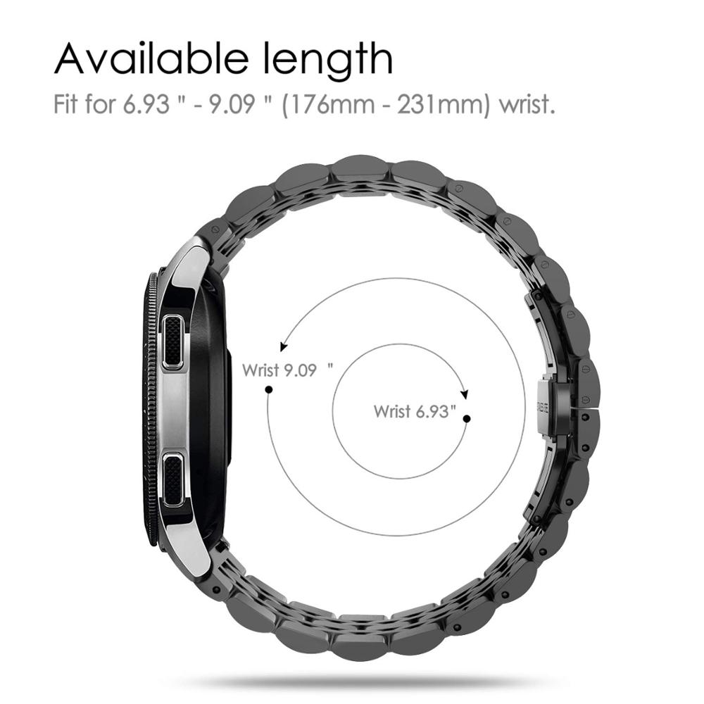 Ремешок из нержавеющей стали для samsung Galaxy watch 46 мм ремешок gear S3 Frontier 22 мм ремешок для часов металлический ремень часы huawei GT 2 46 мм