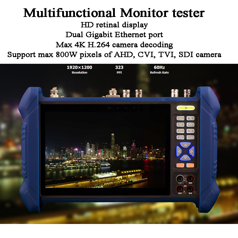 7inch Video Surveillance Debug Network Decoding Battery IP CVBS Analog Tracer Wifi Multimeter POE CCTV Tools Monitor Tester
