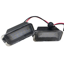 цена на 2pcs car Bright LED License Number Plate Lights For Ford-Focus Fiesta KUGA GALAXY C-MAX License Plate Light