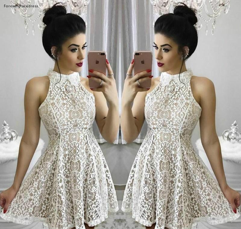2019 Cheap Arabic Cocktail Dress Popular A Line Lace Short Celebrity Semi Club Wear Homecoming Graduation Party Gown Plus Size