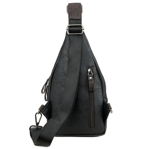 Image 3 - VICUNA POLO Famous Brand Theftproof Magnetic Button Open Leather Mens Chest Bags Fashion Travel Crossbody Bag Man Messenger Bag